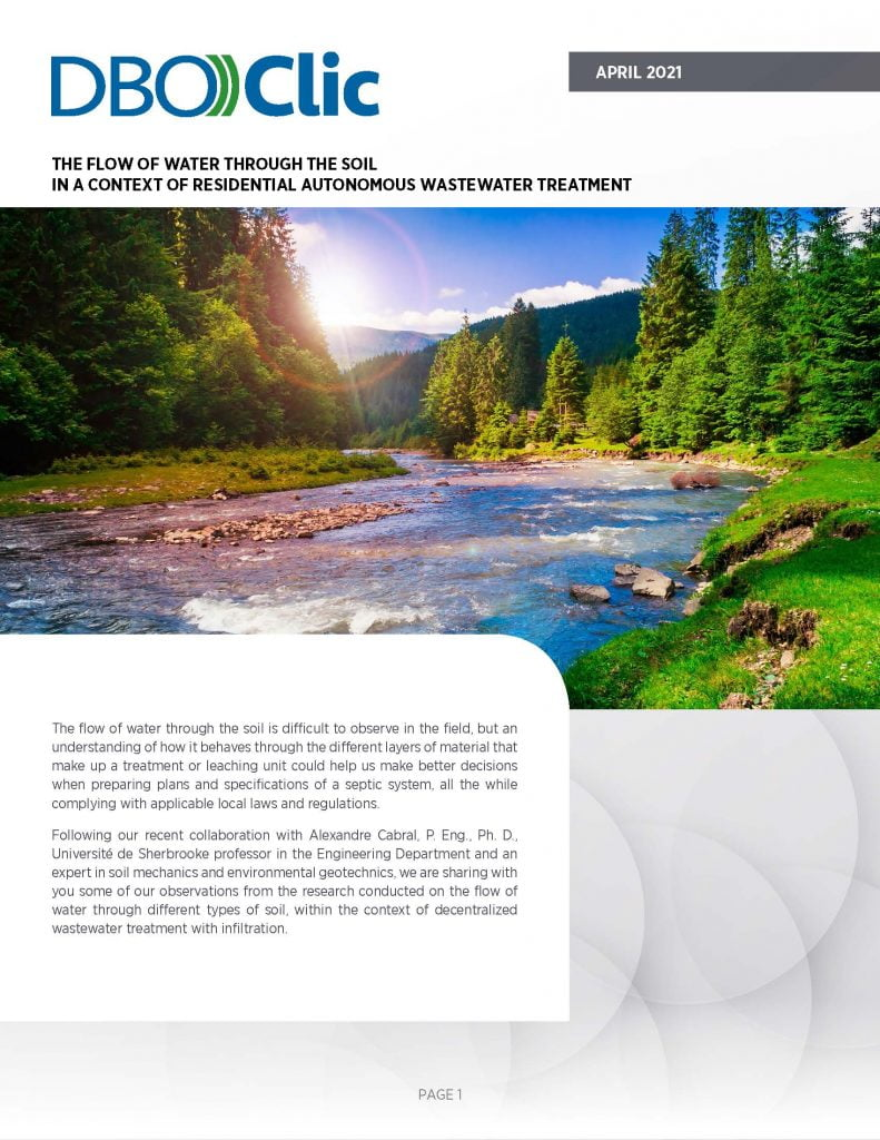 The flow of water through the soil - DBO))Clic 2