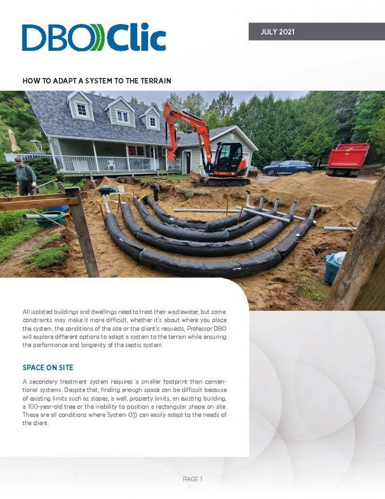 How to adapt a septic system to the terrain - DBO))Clic 2