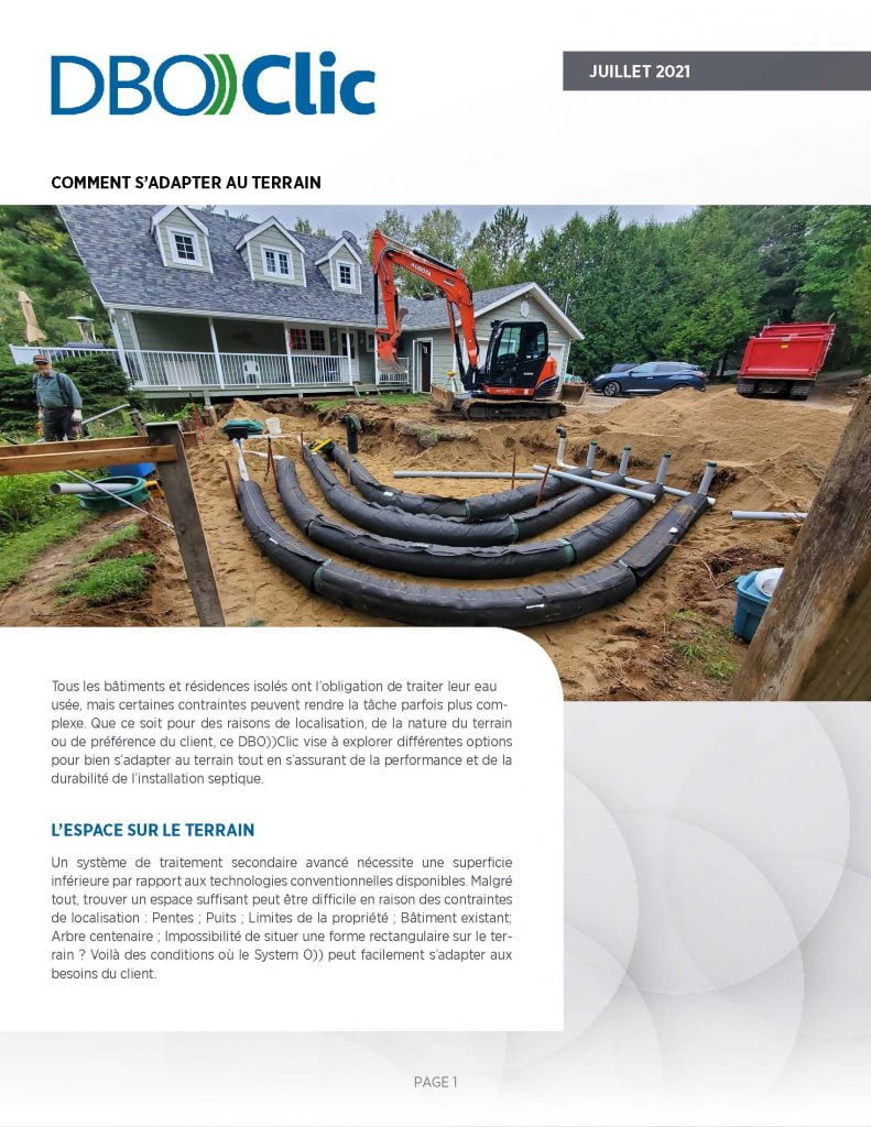 Comment adapter une installation septique au terrain - DBO))Clic 2